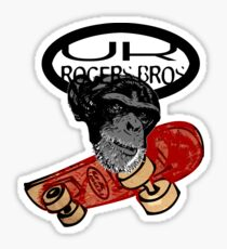 uk skaters team (monkey) by rogers bros Sticker