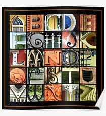 Savannah Alphabet - Square Poster