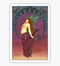 Art nouveau pregnant fairy sticker Sticker