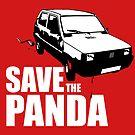 Save The Panda Sticker by godgeeki