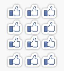 Thumbs up stickers x12 Sticker