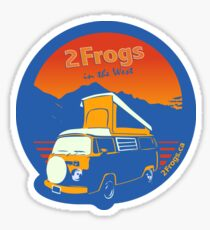 2 Frogs English BLUE Sticker