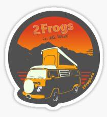 2 Frogs English DARK GREY Sticker