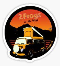 2 Frogs English BLACK Sticker