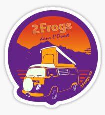 2 Frogs Français VIOLET Sticker