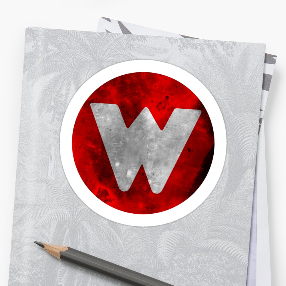 Wrongtown W Logo - Red Distressed by houseAU