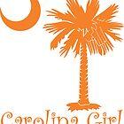Orange Carolina Girl Palmetto Moon by PalmettoTrading