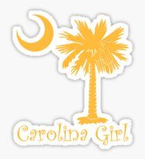 Yellow Carolina Girl Palmetto Moon Sticker