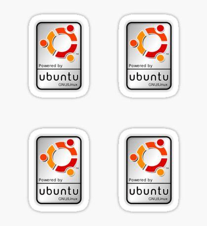 Powered by Ubutnu x 4 Sticker