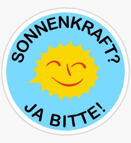Sonnenkraft? Ja bitte! Sticker