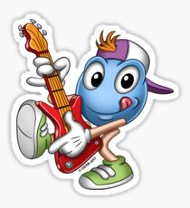 Smiley - Guitar Hero Sticker