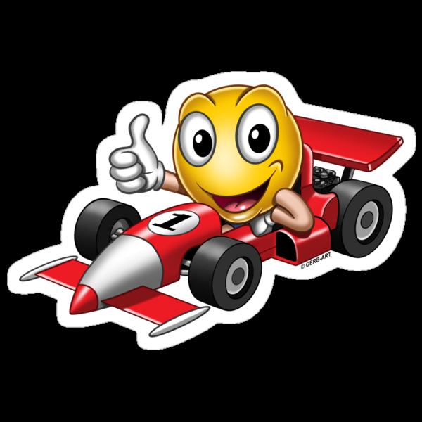 Smiley - Racing Car by GerbArt