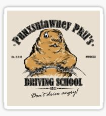 Punsutawney Phils Driving School - STICKER Sticker