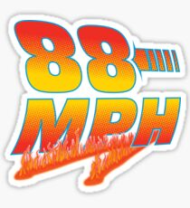 88MPH with flames Sticker
