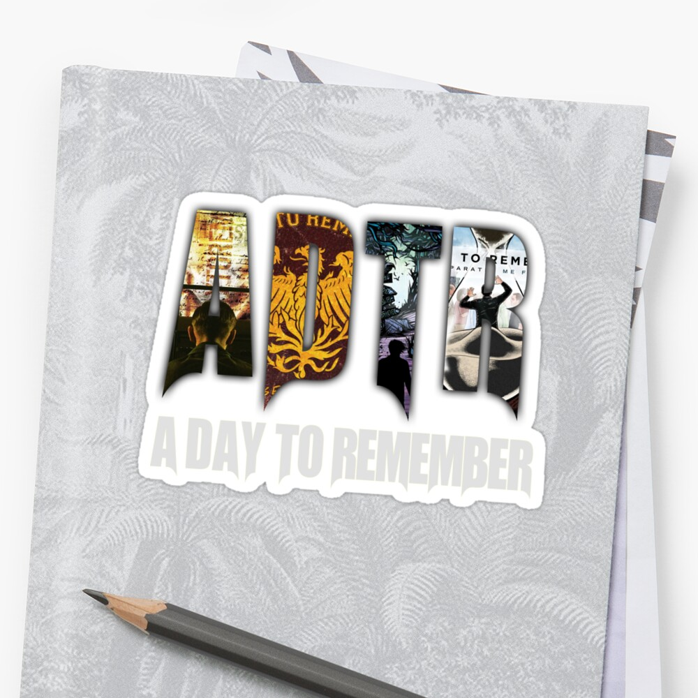A Day To Remember Sticker by causeandeffect