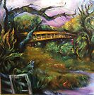 Carmel Valley River and Bridge, Spring by Barbara Sparhawk