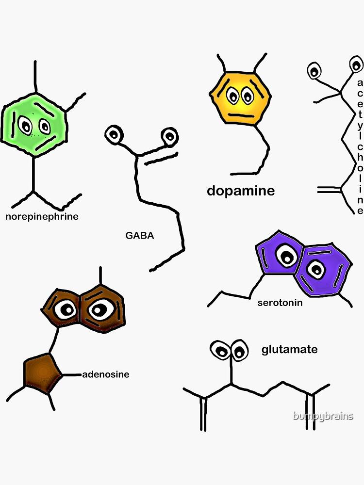 Neurotransmitter Sticker Sheet by bumpybrains