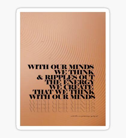 Mind Tripping Ripples STICKER © Vicki Ferrari Photography Sticker