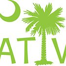 Lime Green South Carolina Palmetto Moon Native by PalmettoTrading