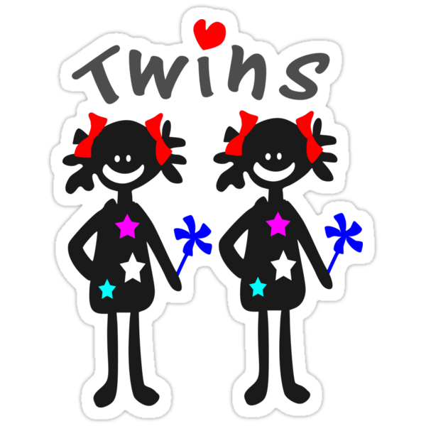 Twin girls vector art by cheeckymonkey
