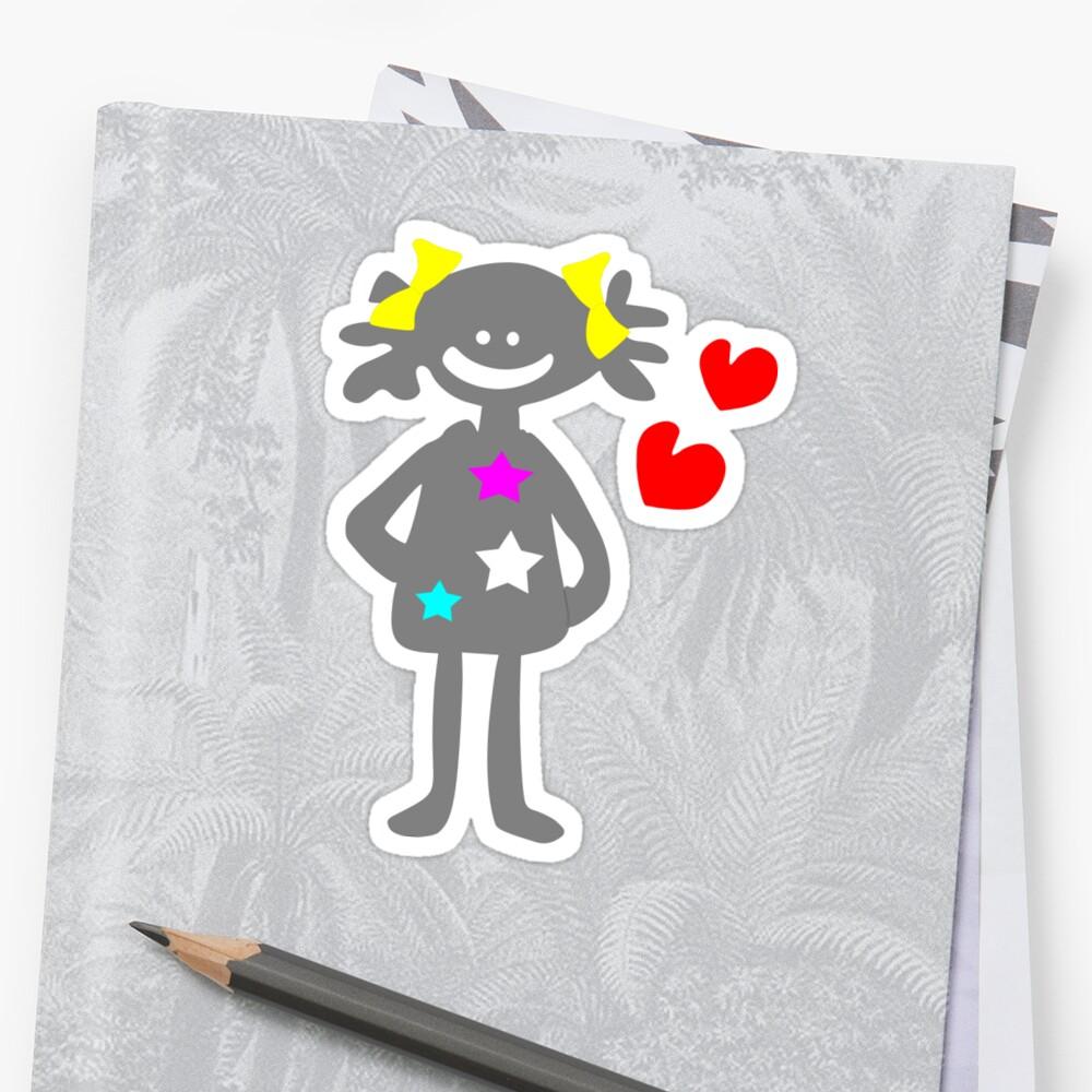 cute smiley girl vector art by cheeckymonkey