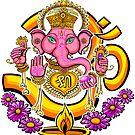 Ganesh sticker by Jacqueline Gwynne