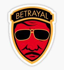 Betrayal Sticker