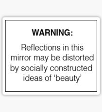 Socially Constructed Beauty Sticker