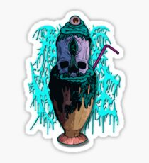 Aborted Jesus Milkshake - Milkshake (Blue) Sticker