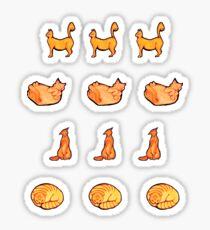 Orange Kitty Mini Stickers Sticker
