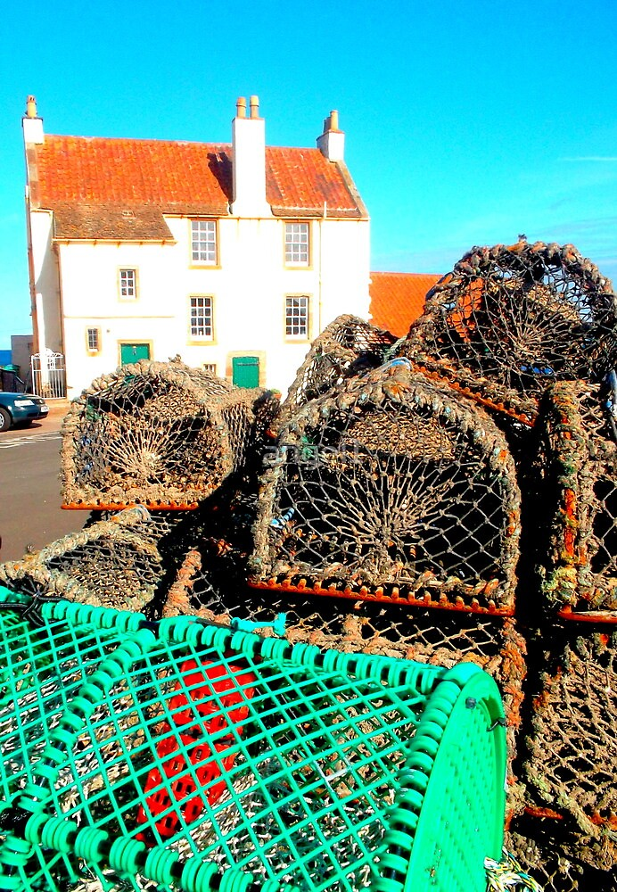 Lobster Baskets at Pittenweem Harbour by ©The Creative  Minds