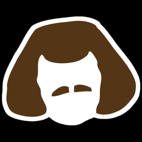 Murderface stickers in brown by jamiebasinger