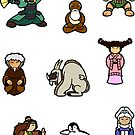 ATLA Mini Stickers: Other characters by Joumana Medlej