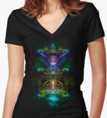 Neon1 Women's Fitted V-Neck T-Shirt