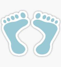 PITTER PATTER STICKER - BABY BLUE Sticker