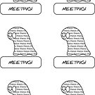 Thesis Monster Stickers (meetings) - two lof bees by Josh Bush