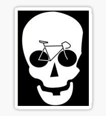 Bike Skull Sticker Sticker