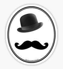 Undulating Moustache Sticker