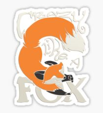 Crazy Like a Fox Sticker Sticker
