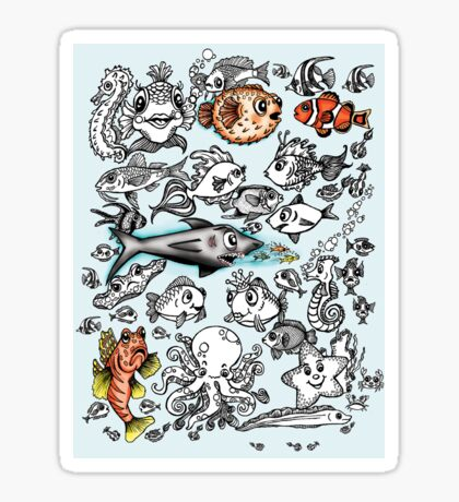 Cartoon Fishies Sticker