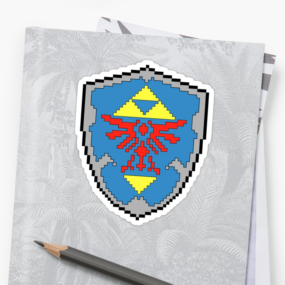 8-Bit Hylian Shield Sticker by WUVWA