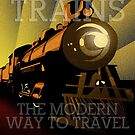 Art Deco & Typography Train by boomshadow