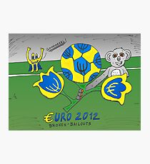 EURO 2012 binary options news cartoon Photographic Print