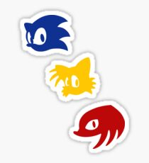 Sonic, Tails & Knuckles alternative Sticker