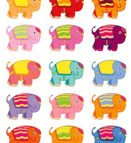 elephant stickers Sticker
