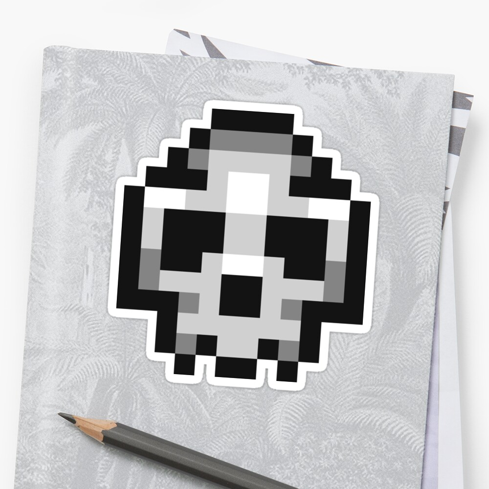 """Pixel Skull"" Stickers By PlatinumBastard"