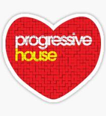 Progressive House Music Sticker