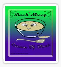 Black sheep Cream Of Bleat Sticker Sticker