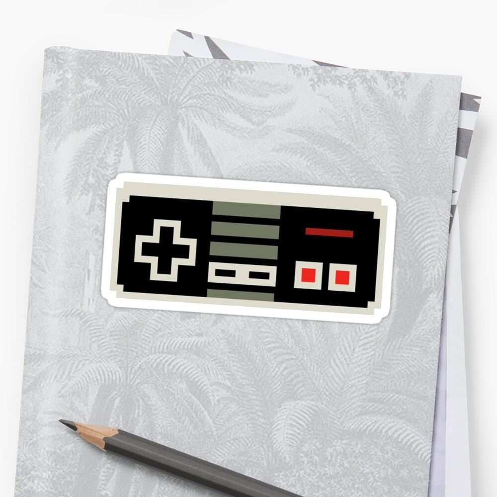 """8 Bit NES Controller"" Stickers By PlatinumBastard"