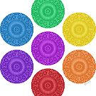 seven chakras circle by offpeaktraveler